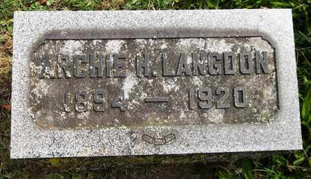 LANGDON, ARCHIE H. - Trumbull County, Ohio | ARCHIE H. LANGDON - Ohio Gravestone Photos