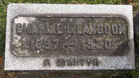 LANGDON, CHARLIE L. - Trumbull County, Ohio   CHARLIE L. LANGDON - Ohio Gravestone Photos