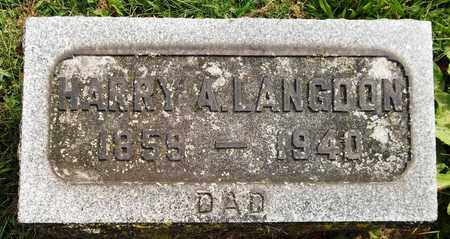 LANGDON, HARRY A. - Trumbull County, Ohio   HARRY A. LANGDON - Ohio Gravestone Photos
