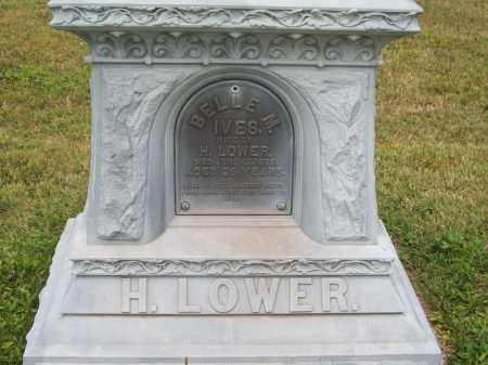 IVES LOWER, BELLE M. - Trumbull County, Ohio | BELLE M. IVES LOWER - Ohio Gravestone Photos