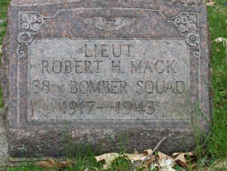 MACK, ROBERT H. - Trumbull County, Ohio | ROBERT H. MACK - Ohio Gravestone Photos
