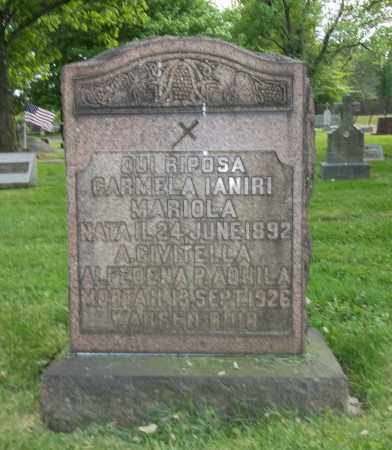MARIOLA, CARMELA - Trumbull County, Ohio | CARMELA MARIOLA - Ohio Gravestone Photos