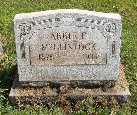 MCCLINTOCK, ABBIE E. - Trumbull County, Ohio | ABBIE E. MCCLINTOCK - Ohio Gravestone Photos