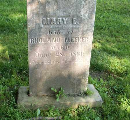 MEEKER, MARY E. - Trumbull County, Ohio | MARY E. MEEKER - Ohio Gravestone Photos