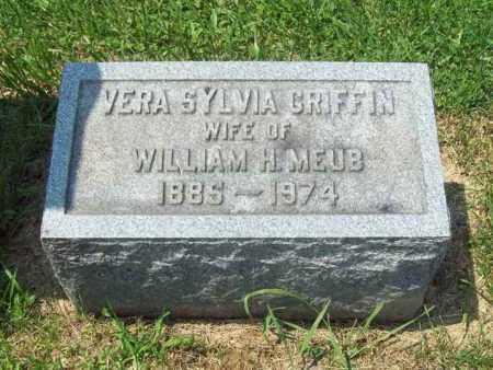 GRIFFIN MEUB, VERA SYLVIA - Trumbull County, Ohio | VERA SYLVIA GRIFFIN MEUB - Ohio Gravestone Photos