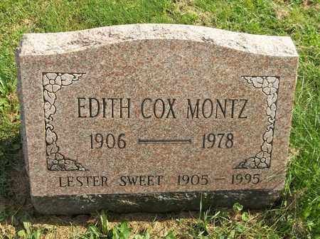 MONTZ, EDITH - Trumbull County, Ohio | EDITH MONTZ - Ohio Gravestone Photos