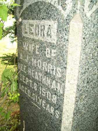 HEATHMAN MORRIS, LEORA - Trumbull County, Ohio | LEORA HEATHMAN MORRIS - Ohio Gravestone Photos