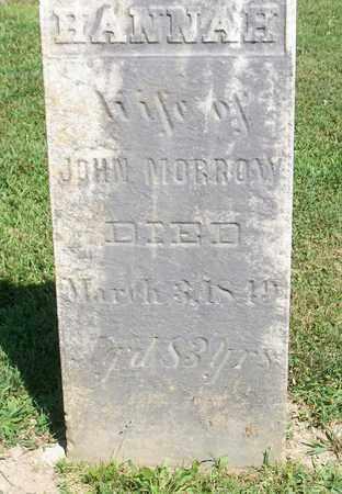 MORROW, HANNAH - Trumbull County, Ohio | HANNAH MORROW - Ohio Gravestone Photos