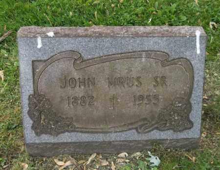 MRUS, JOHN, SR. - Trumbull County, Ohio | JOHN, SR. MRUS - Ohio Gravestone Photos
