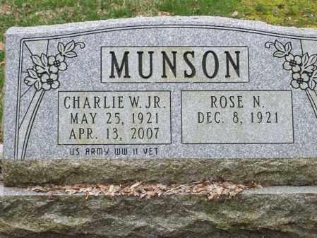 MUNSON, CHARLIE W., JR. - Trumbull County, Ohio | CHARLIE W., JR. MUNSON - Ohio Gravestone Photos