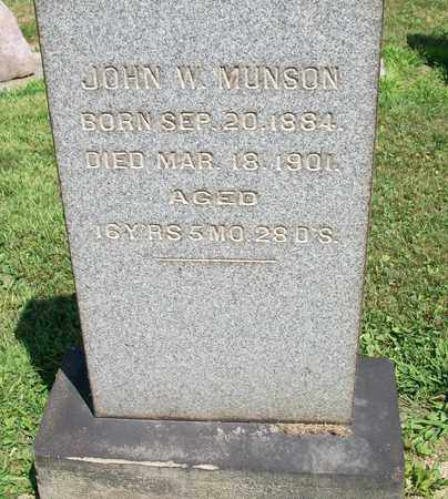 MUNSON, JOHN W. - Trumbull County, Ohio | JOHN W. MUNSON - Ohio Gravestone Photos