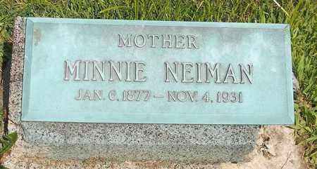 NEIMAN, MINNIE - Trumbull County, Ohio | MINNIE NEIMAN - Ohio Gravestone Photos