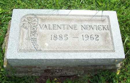NOVICKI, VALENTINE - Trumbull County, Ohio   VALENTINE NOVICKI - Ohio Gravestone Photos