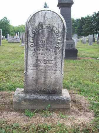 PORTER, LYDIA - Trumbull County, Ohio | LYDIA PORTER - Ohio Gravestone Photos