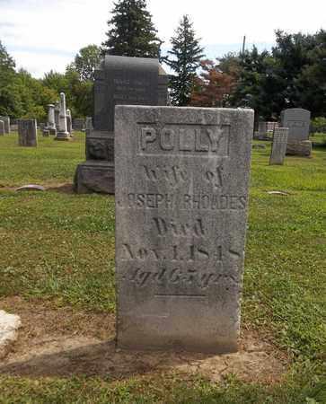 RHOADES, POLLY - Trumbull County, Ohio | POLLY RHOADES - Ohio Gravestone Photos
