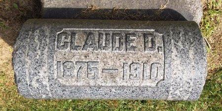 RHODES, CLAUDE D. - Trumbull County, Ohio   CLAUDE D. RHODES - Ohio Gravestone Photos