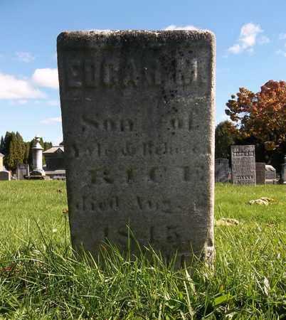 RICE, EDGAR M. - Trumbull County, Ohio | EDGAR M. RICE - Ohio Gravestone Photos