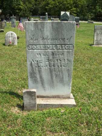 RICE, JOSEPH - Trumbull County, Ohio   JOSEPH RICE - Ohio Gravestone Photos