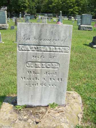 RICE, KATHARINE - Trumbull County, Ohio   KATHARINE RICE - Ohio Gravestone Photos