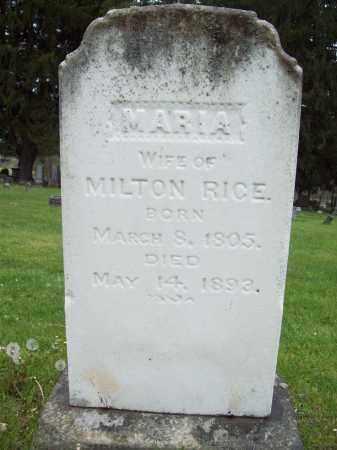 RICE, MARIA - Trumbull County, Ohio   MARIA RICE - Ohio Gravestone Photos