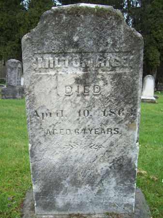 RICE, MILTON - Trumbull County, Ohio | MILTON RICE - Ohio Gravestone Photos