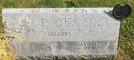 RICHARDS, DAVID E. - Trumbull County, Ohio   DAVID E. RICHARDS - Ohio Gravestone Photos