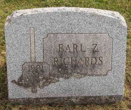 RICHARDS, EARL Z. - Trumbull County, Ohio | EARL Z. RICHARDS - Ohio Gravestone Photos