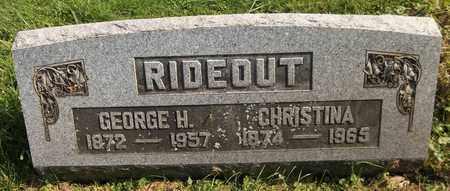 RIDEOUT, CHRISTINA - Trumbull County, Ohio | CHRISTINA RIDEOUT - Ohio Gravestone Photos