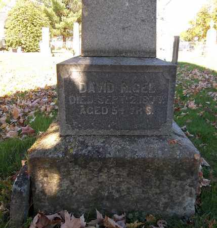 RIGEL, DAVID - Trumbull County, Ohio | DAVID RIGEL - Ohio Gravestone Photos