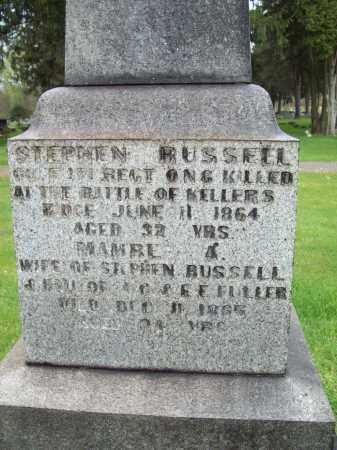 RUSSELL, STEPHEN - Trumbull County, Ohio   STEPHEN RUSSELL - Ohio Gravestone Photos