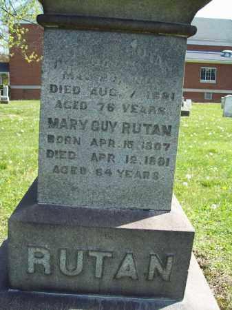 GUY RUTAN, MARY - Trumbull County, Ohio | MARY GUY RUTAN - Ohio Gravestone Photos