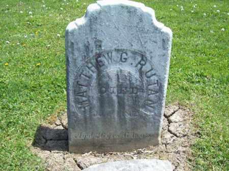 RUTAN, MATTHEW GUY - Trumbull County, Ohio | MATTHEW GUY RUTAN - Ohio Gravestone Photos