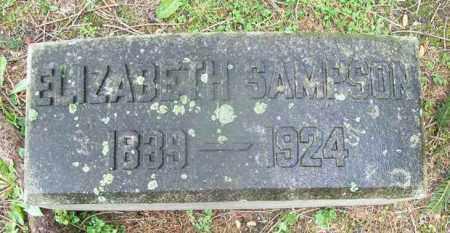 HUDSON SAMPSON, ELIZABETH - Trumbull County, Ohio | ELIZABETH HUDSON SAMPSON - Ohio Gravestone Photos