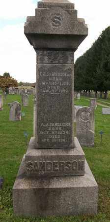 SANDERSON, A. J. - Trumbull County, Ohio | A. J. SANDERSON - Ohio Gravestone Photos