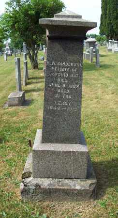 SANDERSON, ROSTO W. - Trumbull County, Ohio | ROSTO W. SANDERSON - Ohio Gravestone Photos