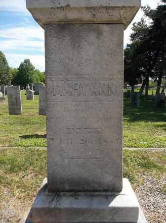 SILLIMAN, MARY ANN - Trumbull County, Ohio | MARY ANN SILLIMAN - Ohio Gravestone Photos