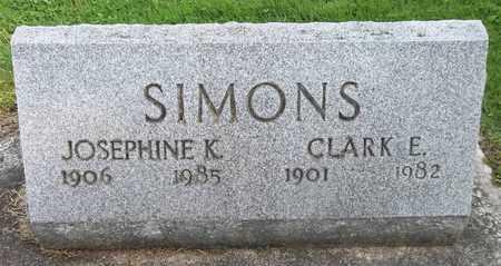 SIMONS, CLARK E. - Trumbull County, Ohio | CLARK E. SIMONS - Ohio Gravestone Photos