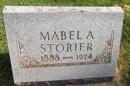STORIER, MABEL A. - Trumbull County, Ohio | MABEL A. STORIER - Ohio Gravestone Photos