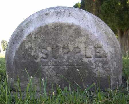 SUPPLE, WALTER - Trumbull County, Ohio   WALTER SUPPLE - Ohio Gravestone Photos