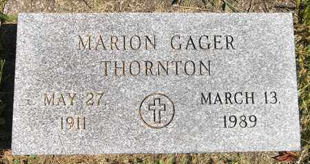 GAGER THORNTON, MARION - Trumbull County, Ohio | MARION GAGER THORNTON - Ohio Gravestone Photos