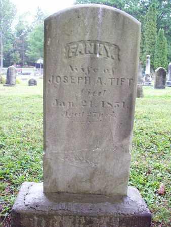 NORTON TIFT, FANNY - Trumbull County, Ohio   FANNY NORTON TIFT - Ohio Gravestone Photos