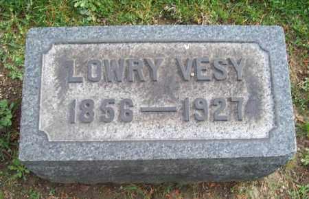 VESY, LOWRY - Trumbull County, Ohio | LOWRY VESY - Ohio Gravestone Photos