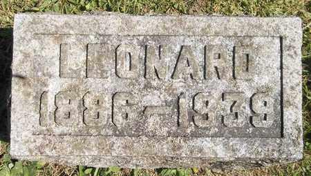 WANZER, LEONARD - Trumbull County, Ohio | LEONARD WANZER - Ohio Gravestone Photos