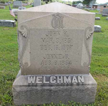 WELCHMAN, JENNIE G. - Trumbull County, Ohio | JENNIE G. WELCHMAN - Ohio Gravestone Photos