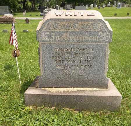 WHITE, ADDISON - Trumbull County, Ohio | ADDISON WHITE - Ohio Gravestone Photos