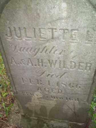 WILDER, JULIETTE L. - Trumbull County, Ohio | JULIETTE L. WILDER - Ohio Gravestone Photos