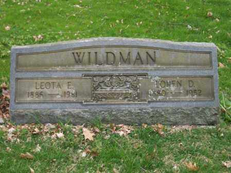 WILDMAN, LOREN D. - Trumbull County, Ohio | LOREN D. WILDMAN - Ohio Gravestone Photos