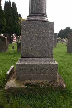 WILLCOX, ELIZABETH - Trumbull County, Ohio | ELIZABETH WILLCOX - Ohio Gravestone Photos