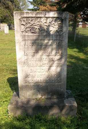 BALDWIN WILLIAMSON, HARRIET - Trumbull County, Ohio | HARRIET BALDWIN WILLIAMSON - Ohio Gravestone Photos