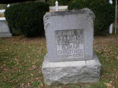 CRABTREE, JENNIE E - Tuscarawas County, Ohio | JENNIE E CRABTREE - Ohio Gravestone Photos